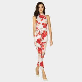 HaoYouDuo Floral White Jumpsuit (25204006)