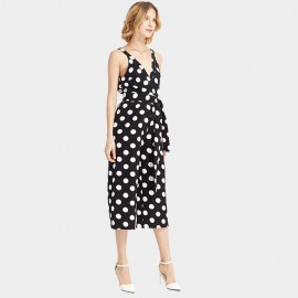 HaoYouDuo Polka Dot Black Jumpsuit (25304006)