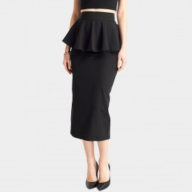 HaoYouDuo Layered Black Skirt (25305002)