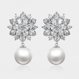 Caromay Blooming Snowflake Silver Earrings (E1272)