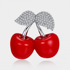 Caromay Sweet Cherry Red Brooch (T0173)