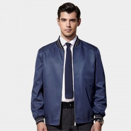 Beverry Striped Edge Blue Jacket (15AFD89012)