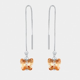 Seventy 6 Love From A Distance Champagne Earrings (2697)