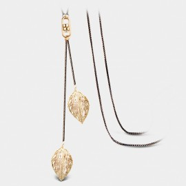 Seventy 6 The Autumn Leaves Gold Long Chain (7247)