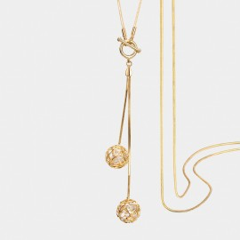 Seventy 6 Love Reunion Gold Long Chain (7264)