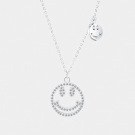 Seventy 6 Adorkable Faces White Necklace (12129)