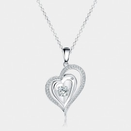 Seventy 6 A String Of Hearts White Necklace (12144)