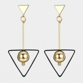 Caromay Triangle Trap Champagne Gold Earrings (E1542)