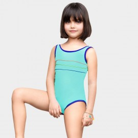 Balneaire Sharp Trim Seam Blue One Piece (260037)