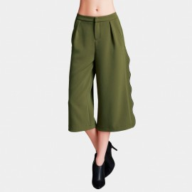 Vanilla Chocolate Wavy Trim Green Pants (V633397198)
