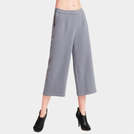 Vanilla Chocolate Basic Wide Leg Lilac Pants (V633397271)