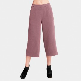 Vanilla Chocolate Basic Wide Leg Red Pants (V633397271)