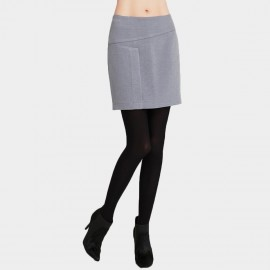 Vanilla Chocolate Edgy Wrap Lilac Skirt (V641057268)