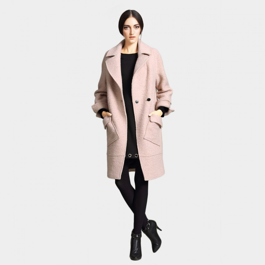 Vanilla Chocolate Timeless Warmth Pink Coat (V642277404)