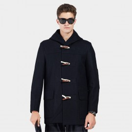 Beverry Toggle Check Lining Black Coat (16AFQ1711)