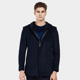 Beverry Hidden Leather Lining Navy Jacket (16AFQ1728)