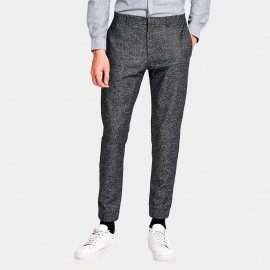 Basique Side Taping Grey Pants (22.0015)
