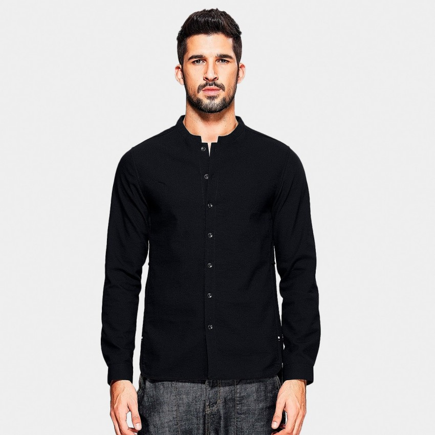 Kuegou Short Side Panel Black Shirt (XC-25801)