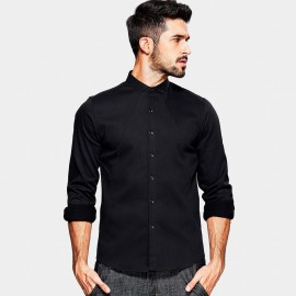 Kuegou A Shaped Seam Black Shirt (XC-25807)