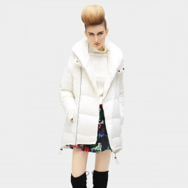 Cocobella Thick Hoop White Down Jacket (CT422)
