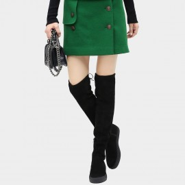 Cocobella Buttoned Front Green Skirt (DS563)