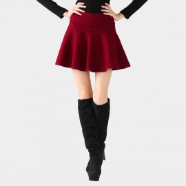 SSXR Sponge Textured 3D Mini Red Skirt (5156)