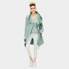 Cocobella Falling Angel Green Trench Coat (CT572)