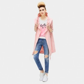 Cocobella Falling Angel Pink Trench Coat (CT572)