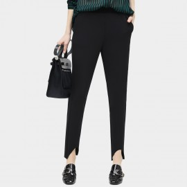 Cocobella Curved Cut Cuff Black Pants (PT284)