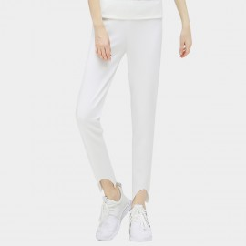Cocobella Curved Cut Cuff White Pants (PT284)
