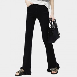 Cocobella Sweeping Flare Black Pants (PT290)
