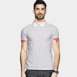 KUEGOU Gradient Edge Grey POLO Shirt (MT-1543)
