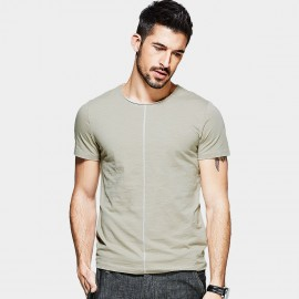 KUEGOU Center Stitching Khaki Tee (RT-8200)
