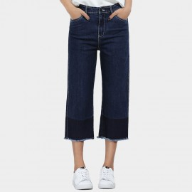 Leiji Cropped Straight Leg Navy Jeans (5532)