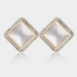 Caromay Ocean Platform Rose Gold Earrings (E0198)