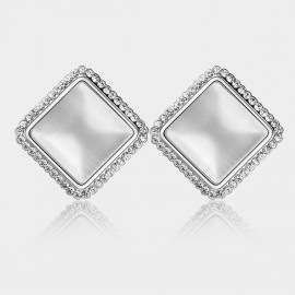 Caromay Ocean Platform Silver Earrings (E0198)