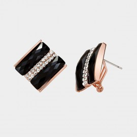 Caromay Light Charm Black Earrings (E1043)