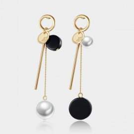 Caromay Uneven Swing Champagne Gold Earrings (E1475)