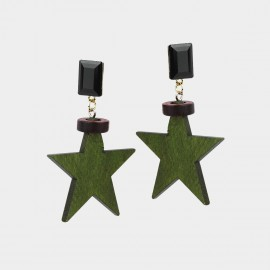 Caromay Wooden Eco Star Earrings (E1595)
