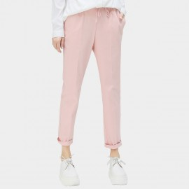 Cocobella Drawstring Rolled Cuffs Straight Cut Pink Pants (PT287)