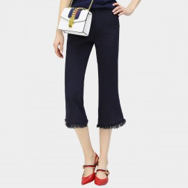 Cocobella Calf Length Flared Tassel Navy Pants (PT302)