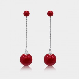 Caromay Carmine Tassel Red Earrings (E0974)
