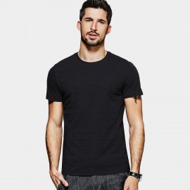 Kuegou Checkers Textured Black Tee (MT-1535)