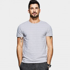 Kuegou Checkers Textured Grey Tee (MT-1535)