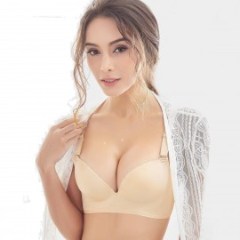 Olanfen High Side Wings Push Up Convertible T Shirt Nude Bra (W6045)