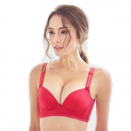 Olanfen High Side Wings Push Up Convertible T Shirt Red Bra (W6045)