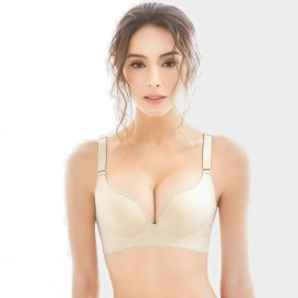 Olanfen Dotted Gradient Minimalistic Oush Up Convertible Nude Bra (W6071)