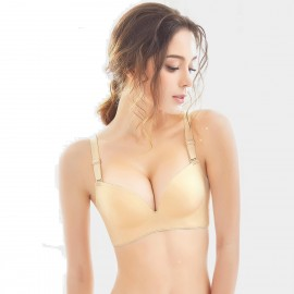 Olanfen Invisible Seamless Push Up Convertible Nude Bra (W6072)