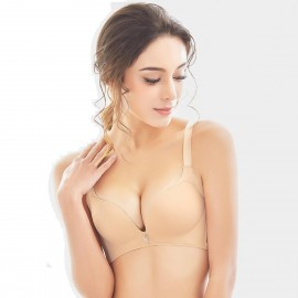 Olanfen Extended Platforms Push Up Nude Bra (W6060)
