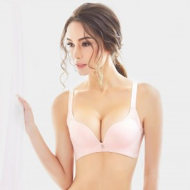 Olanfen Extended Platforms Push Up Pink Bra (W6060)